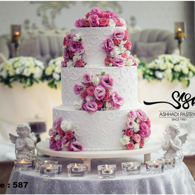 کیک عروسی کد 587