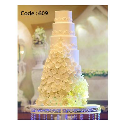 کیک عروسی کد 609