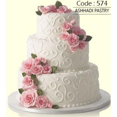 کیک عروسی کد 574