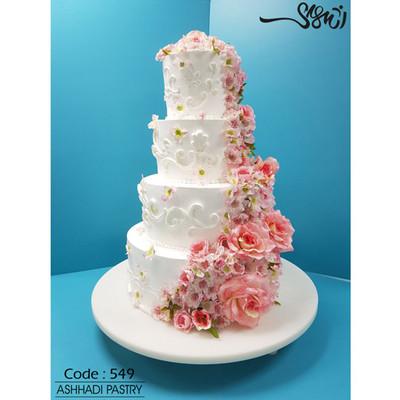 کیک عروسی کد 549