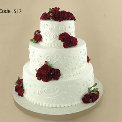 کیک عروسی کد 517