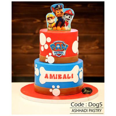 کیک سفارشی کدDog5