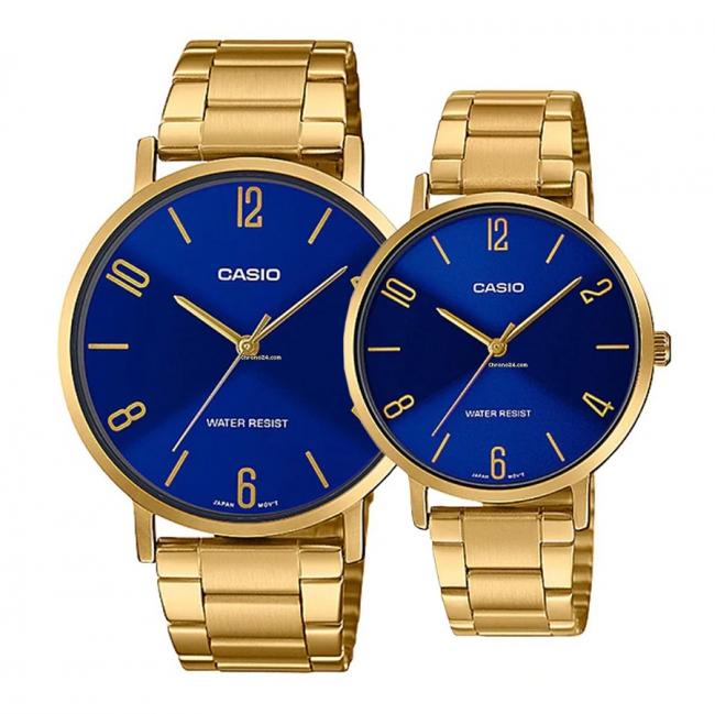 ساعت مچی ست کاسیو مدل MTP-VT01G-2B2 , LTP-VT01G-2BUDF