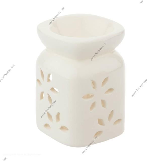 اسانس سوز سفید طرح گل برگ