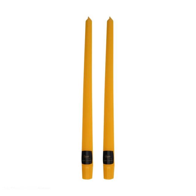 شمع قلمی رنگ نارنجی بسته دو عددی(ارتفاع 30cm)