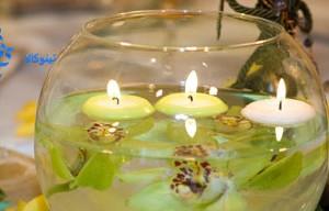 خرید شمع روی آب سفید