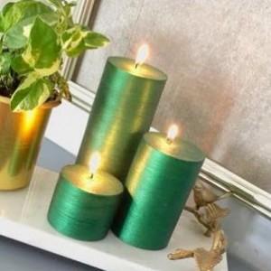 خرید شمع  سبز زمردی
