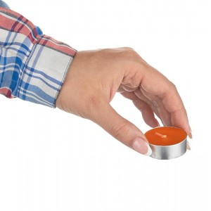 شمع رنگ نارنجی