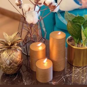 خرید شمع رنگ طلایی