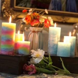 شمع رنگین کمانی