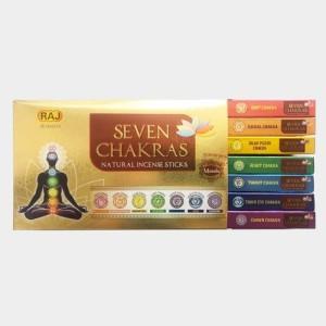 عود دست ساز هفت چاکرا Natural Chakra Collection (هفت بسته عود)