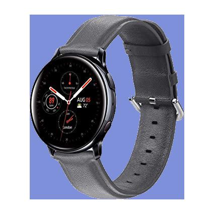 ساعت هوشمند سامسونگ بند چرمی مدل Galaxy Watch Active2 44mm Leatherband Smart