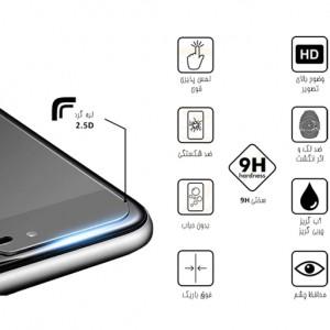 محافظ صفحه نمایش مدل سرامیکی مناسب برای گوشی موبایل سامسونگ Galaxy A10