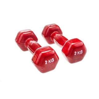 دمبل ایروبیک بانوان روکش دار 2 کیلوگرمی - دو عددی