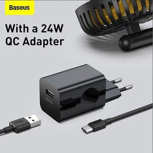 شارژر بی سیم باسئوس مدل Hermit به همراه شارژر دیواری و کابل تبدیل USB-C