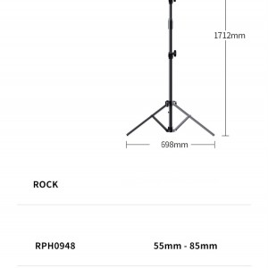 سه پایه رینگ لایت موبایل راک Rock RPH0948 Selfie Ring Light